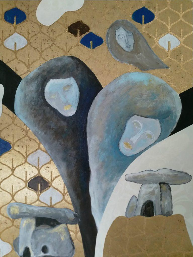 Muzen, lucht en dolmen