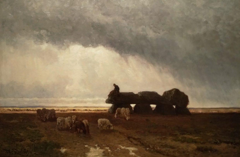 Schilderij met hunebed