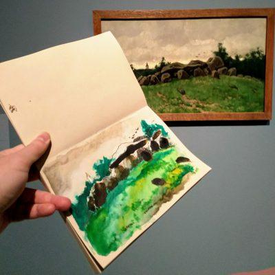 Eigen notitie bij schilderij