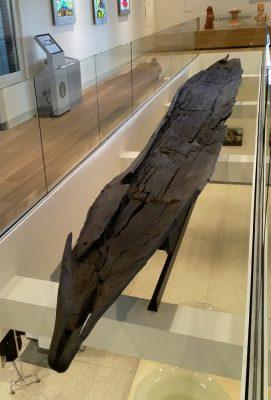 Een boot uit de ijzertijd van na de Vlaardingencultuur