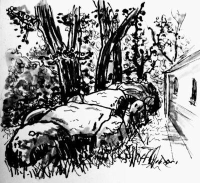 D04 Midlaren-O 03 Hunebedden in inkt