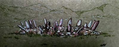 Bryn Cader Faner, Posca markers on wallpaper