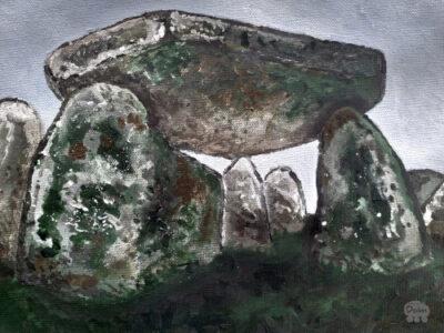 Dark dolmen no. 1; Pierre-Levée de la Cour du Breuil