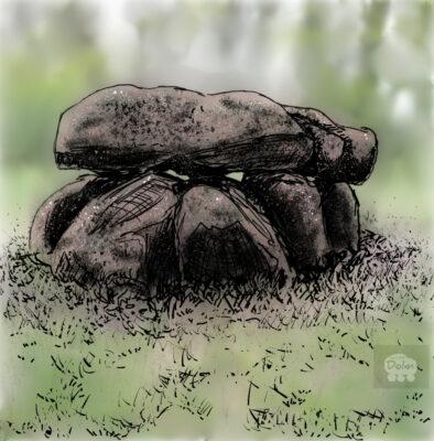 Dolmen bij Tynaarlo, digitale kunst