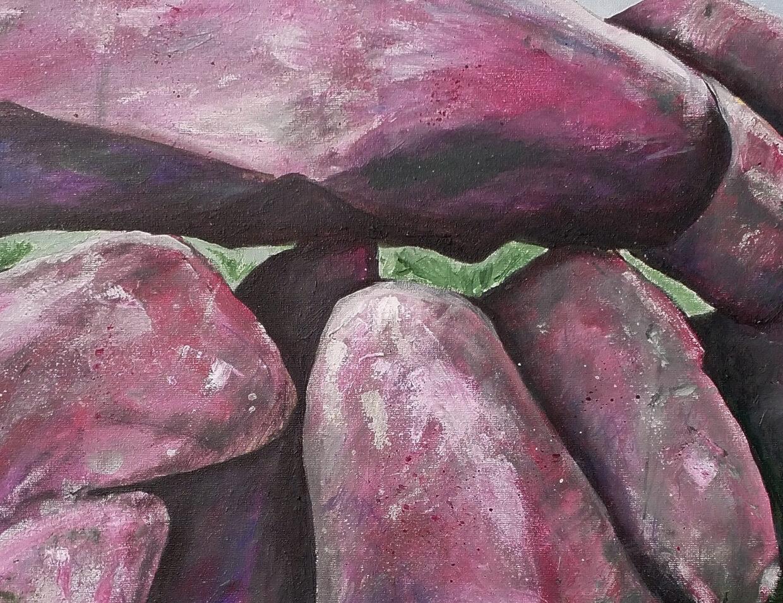 Hunebed D6 Tynaarlo, een detail van een schilderij